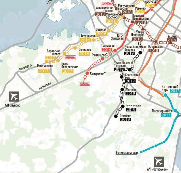 распечатать карта метро москвы 2020 года с новыми станциями на карте