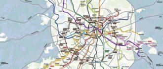 Новая карта метро до 2020 года
