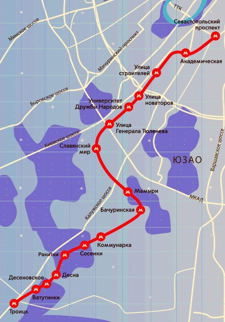 Открытие метро в Московском, Сосенках, Десне, Ватутинках и Троицке