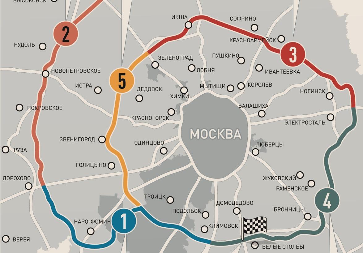 ЦКАД на карте Московской области 2021
